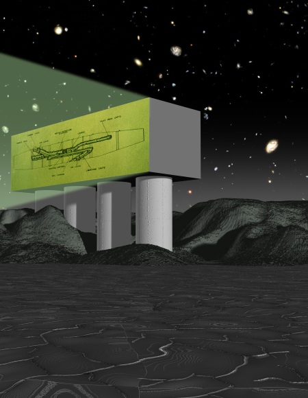 A Mother Ship Projector (Computer Collage, 2007)