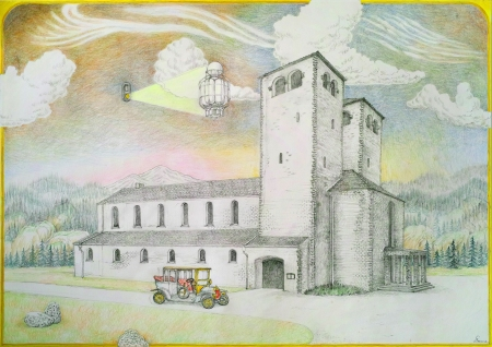 Church Drawing by Torsten Slama