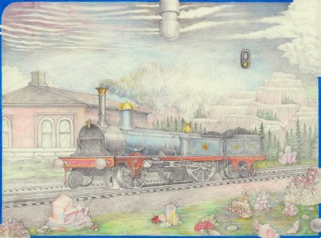 Drawing after the New Zealand railway painter W.W.